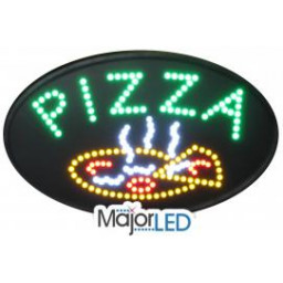 Oval Pizza LED Sign