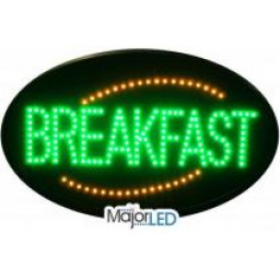 Oval Breakfast LED Sign
