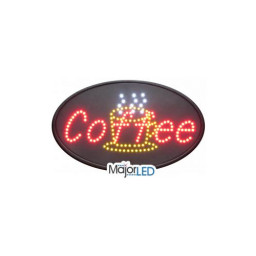 Oval Coffee LED Sign